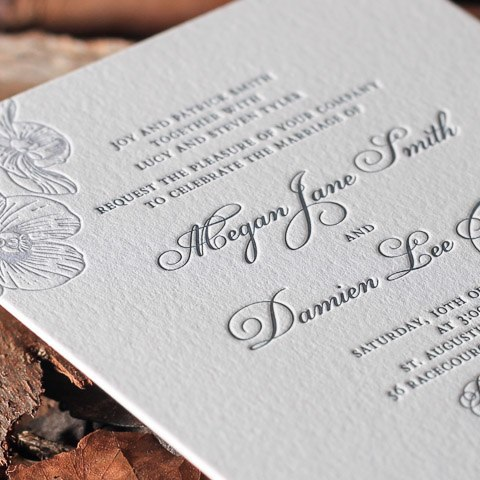Megan wedding invitations