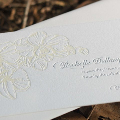 Rochelle wedding invitations