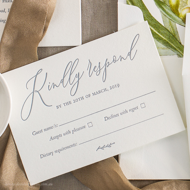 Types Of Response Cards For Your Wedding Invitations An