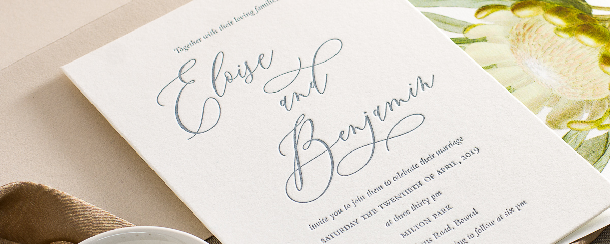 Deciduous Press Letterpress Wedding Invitations And Stationery