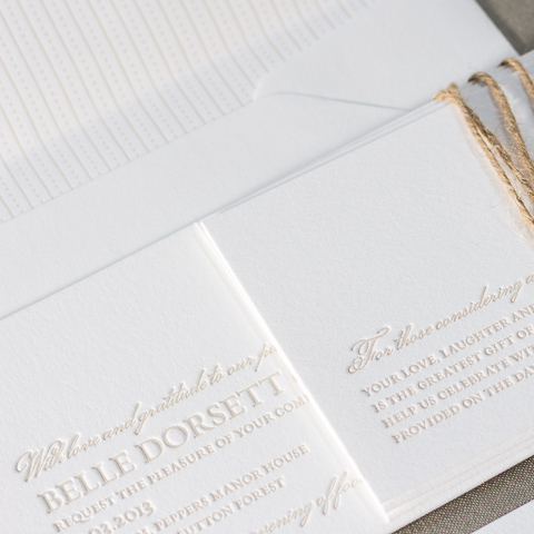 Belle wedding invitations