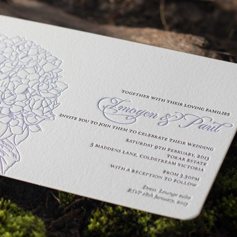 Imogen wedding invitations