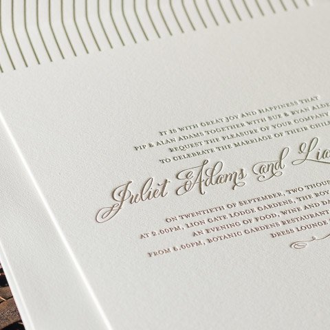 Juliet wedding invitations