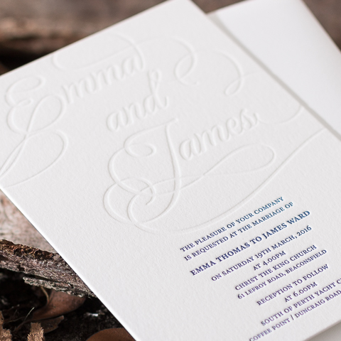 Emma wedding invitations