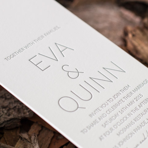 Eva wedding invitations