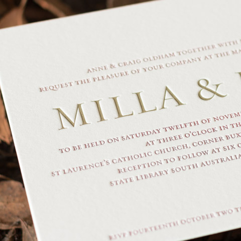 Milla wedding invitations