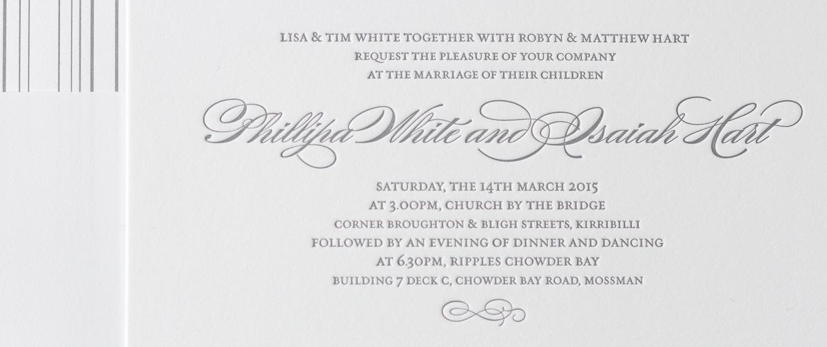Phillipa   Elegant and timeless wedding invitation design by ...