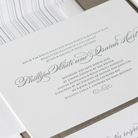 Phillipa wedding invitations