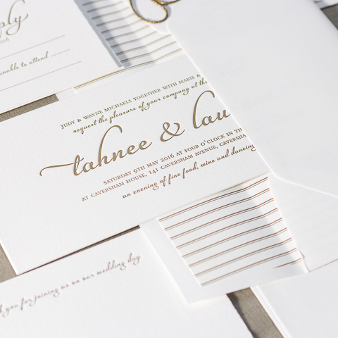 Tahnee wedding invitations