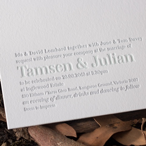 Tamsen wedding invitations