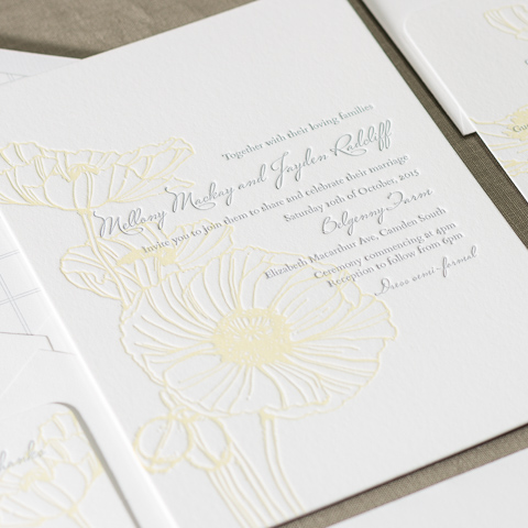 Mellony wedding invitations