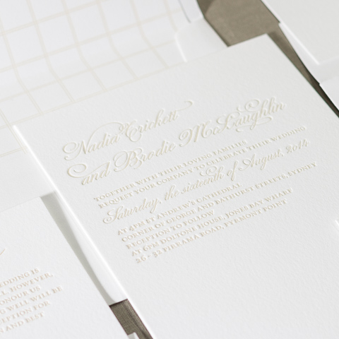 Nadia wedding invitations