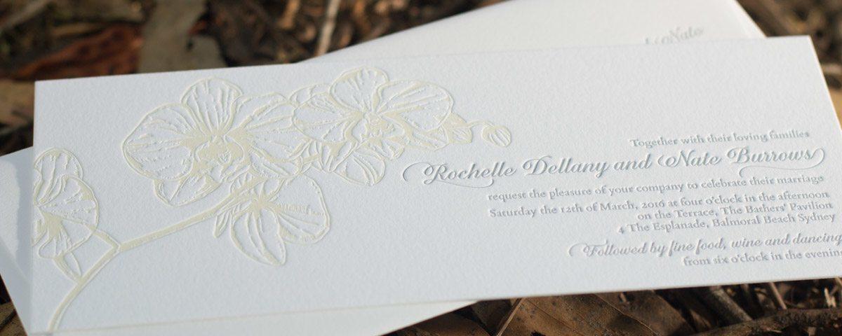 Phalaenopsis Orchid Invitation Letterpress Printed Phalaenopsis Orchid  Letterpress Wedding Invitation Showing Hand Drawn Illustration ...
