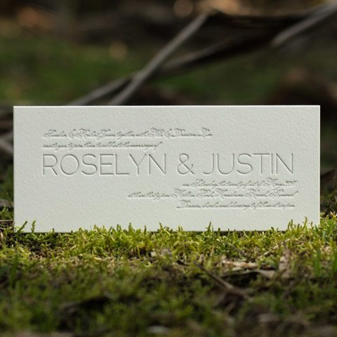 Roselyn wedding invitations