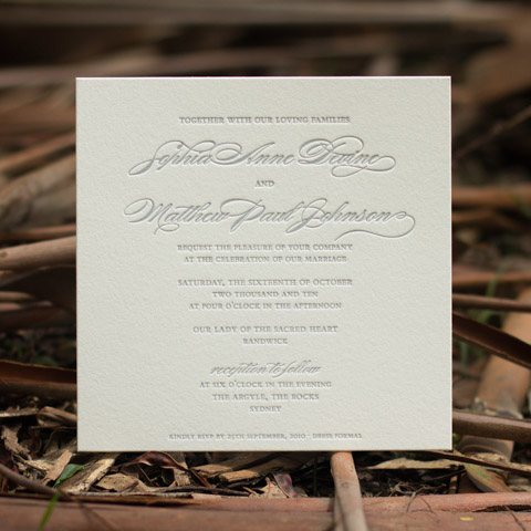 Sophia wedding invitations