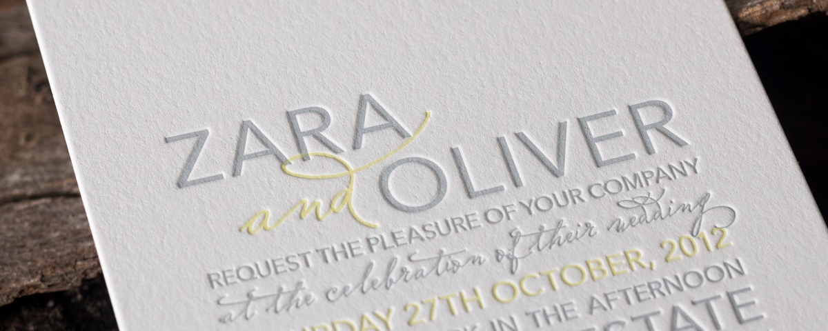 Zara | Modern, contemporary wedding invitation design by Deciduous ...