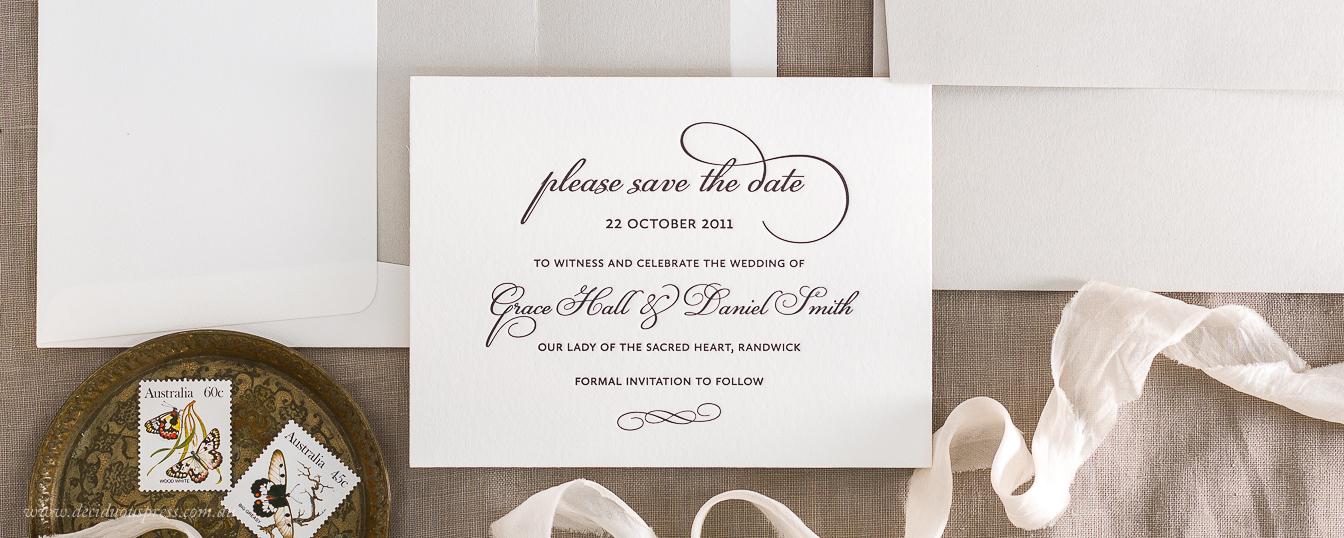 Letterpress wedding RSVP response postcard